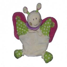 Accueil Z'autres marques Doudou Nounours Coccinelle abeille beige vert ailes rose