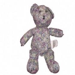 Accueil Z'autres marques Doudou Creaprim B ours fleur violet bleu 20cms