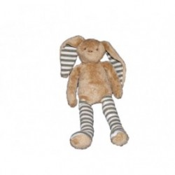Accueil Z'autres marques Doudou Sergent Major Lapin marron rayure rayee vert 25cms
