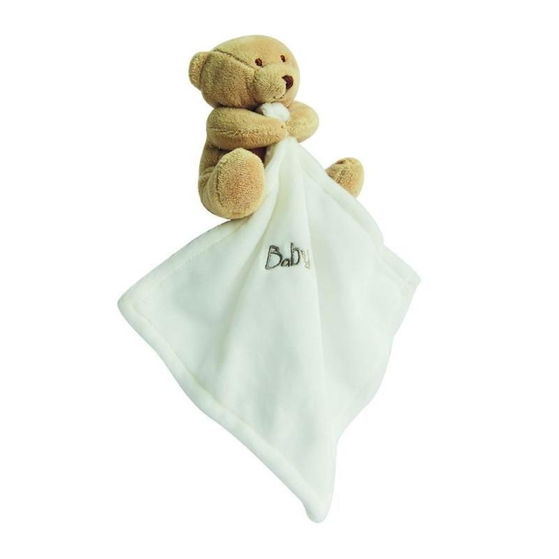 Doudou Babynat Ours Ourson Naturel beige marron clair 15cms BN3520