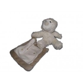 Accueil Z'autres marques Doudou Sensei Siretex ours beige mouchoir etoile beige marron 17cms