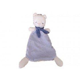 Accueil Z'autres marques Doudou H&M Lapin chat castor plat blanc nœuds et rayure bleu