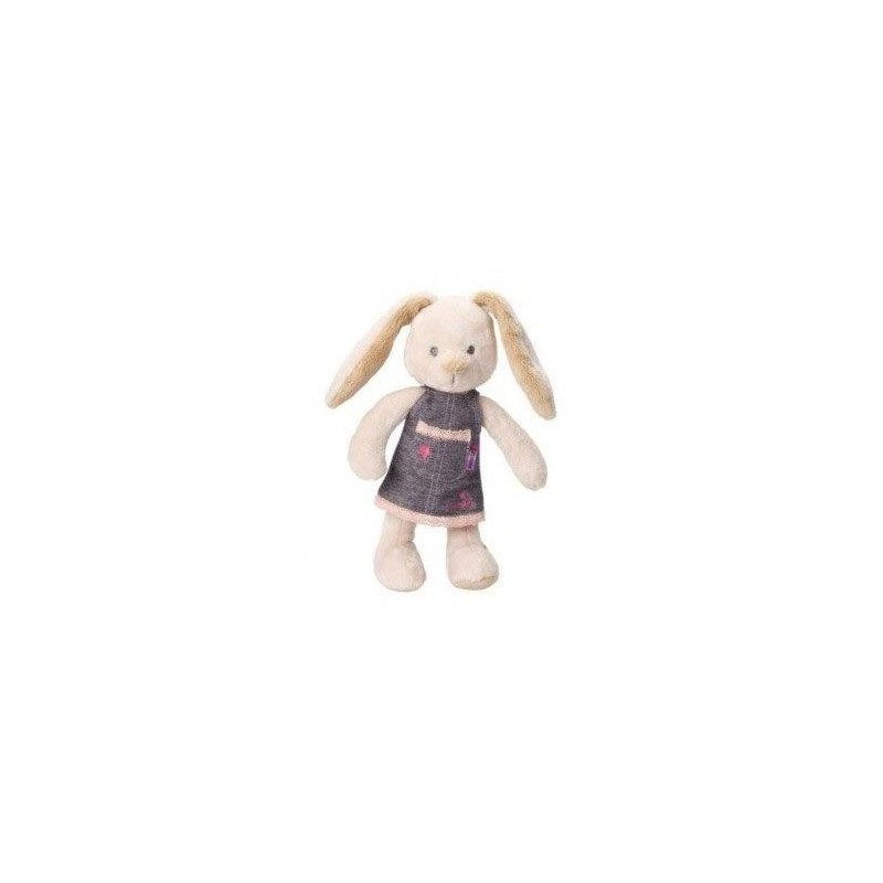 Accueil Z'autres marques Doudou Pericles Lapin robe jeans etoile rose 26cms