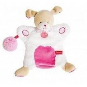 Accueil Doudou et Compagnie Doudou Doudou et Compagnie Chien marionnette lovely fraise pompon rose DC3050