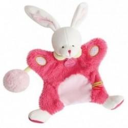 Accueil Doudou et Compagnie Doudou Doudou et Compagnie Lapin marionnette lovely fraise pompon rose DC3050