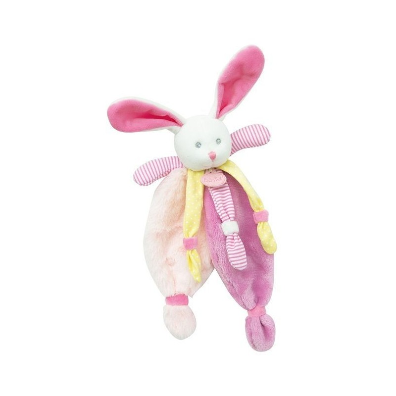 Accueil Babynat doudou Babynat Lapin Rose Tutti Frutti Jaune BN0286 Les Poupis Plat