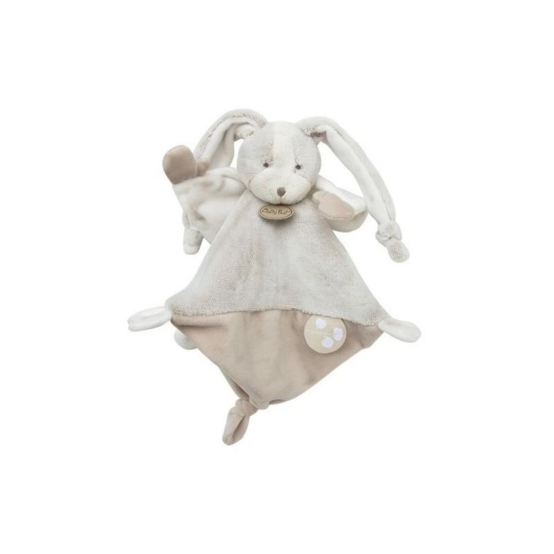 Accueil Babynat doudou Babynat Lapin Gris BN0279 Les Toudoux Plat
