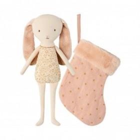 Accueil Maileg doudou Maileg Lapin Rose Angel dans une chaussette Mini Pantin