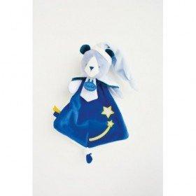Accueil Babynat doudou Babynat Ours Bleu Luminescent etoile BN0312 Les Cometes Plat