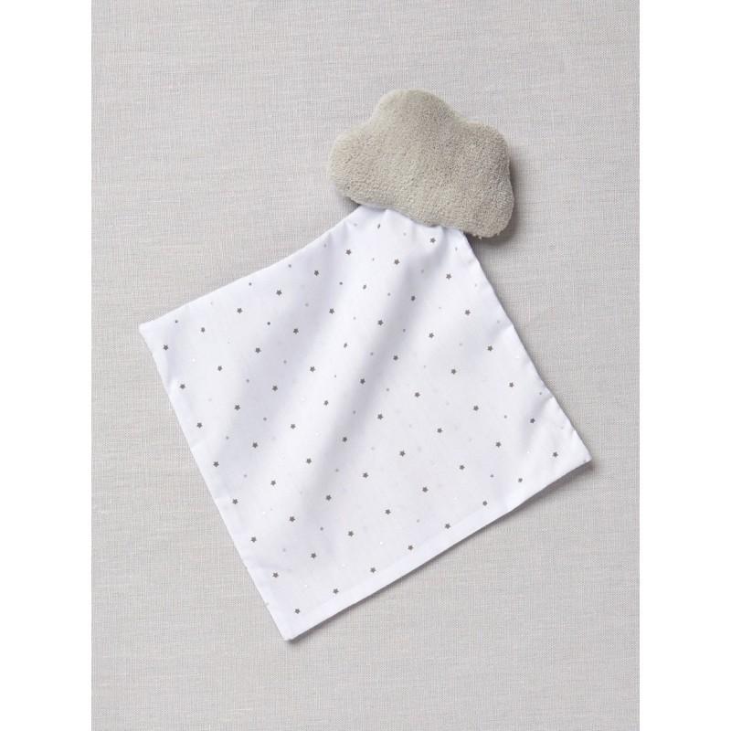 Accueil Z'autres marques Doudou Cyrillus Nuage gris sur mouchoir etoile blanc