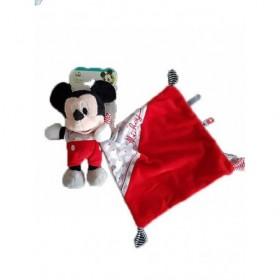 Accueil Disney Doudou Nicotoy / Kitchoun Mickey avec mouchoir rouge gris nuage