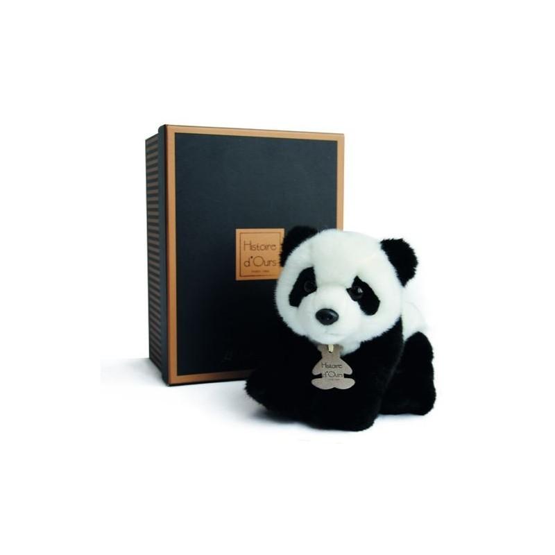 Accueil Histoire d'ours Doudou Histoire d'ours Panda Noir et Blanc les Authentiques 20cms HO2212