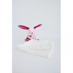 Accueil Babynat doudou Babynat Lapin Rose Luminescent Etoile BN0311 Les Cometes Pantin