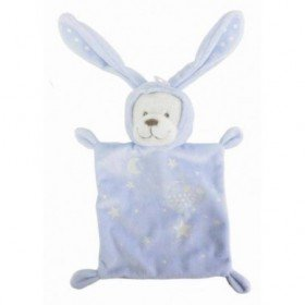 Accueil Nicotoy Doudou Nicotoy / Kitchoun Ours / lapin Phosphorescent Bleu rectangle Boone Glow Carre poussin