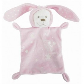 Accueil Nicotoy Doudou Nicotoy / Kitchoun Ours/ lapin Phosphorescent Rose rectangle Boone Glow Carre poussin