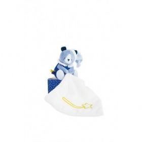 Accueil Babynat doudou Babynat Ours Bleu Luminescent 13cms BN0311 Les Cometes Pantin