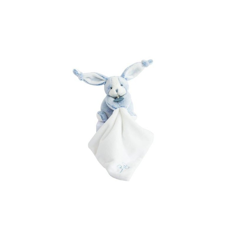 Accueil Babynat doudou Babynat Lapin Bleu Mouchoir Blanc BN0274 Les Toudoux Pantin