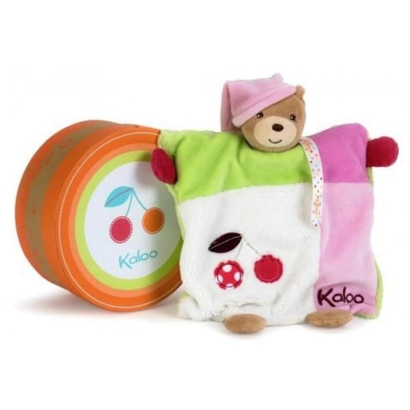 Accueil Kaloo Doudou Kaloo Colors Ours Ourson marionnette cerise rose