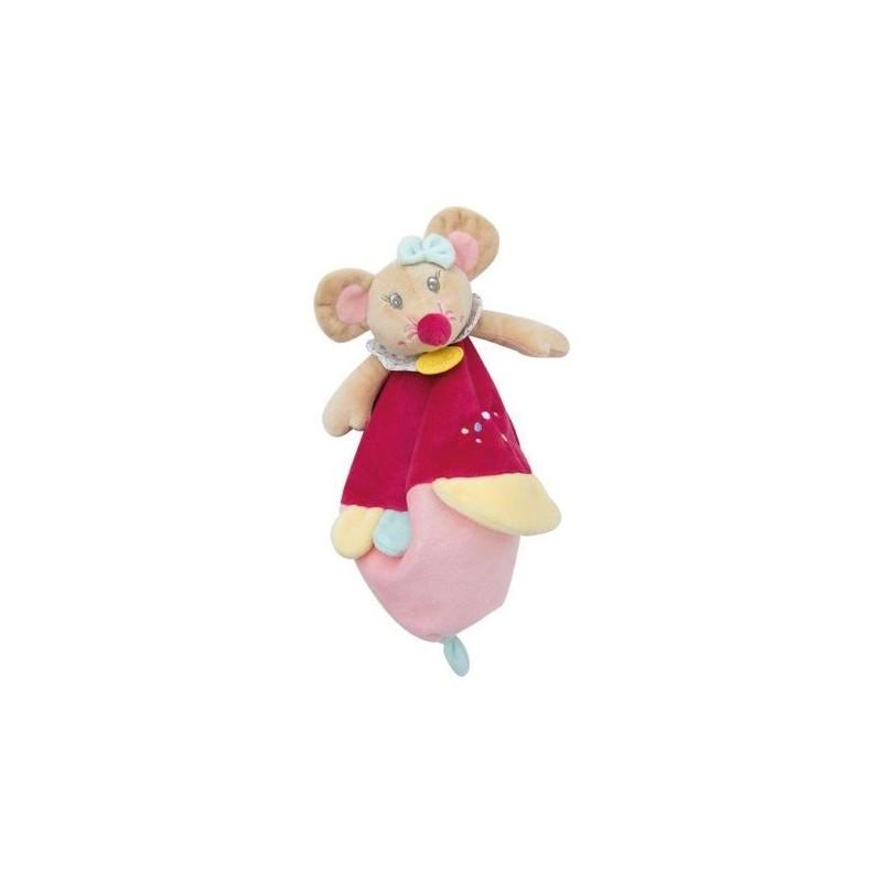 Accueil Babynat doudou Babynat Souris Rose Jaune Col BN261 Rosie et Marceau Plat