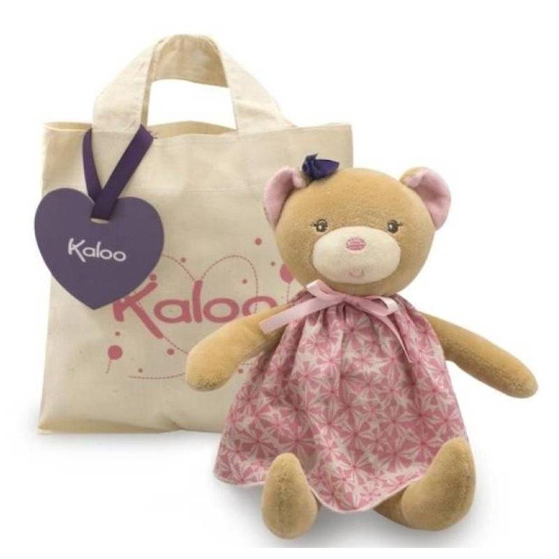 Accueil Kaloo Doudou Kaloo Poupee ours rose avec sac 26cms