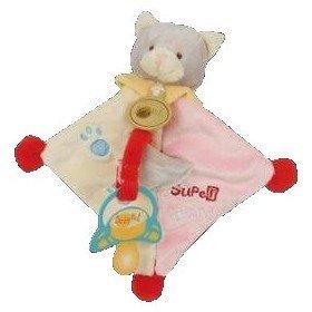 Accueil Babynat Doudou Babynat chat super tetine rose et beige -BN309-