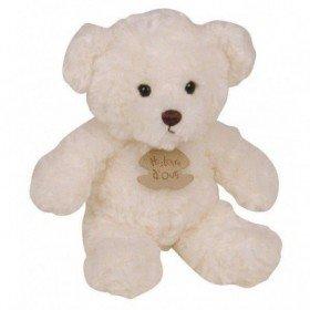 Accueil Histoire d'ours Doudou Histoire d'ours ours calin blanc 21cms - ho1436