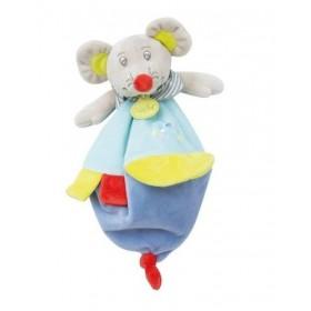 Accueil Babynat doudou Babynat Souris Bleu Vert Foulard BN0266 Rosie et Marceau Plat