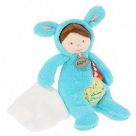 Accueil Babynat Doudou Babynat poupon garcon deguise en lapin bleu BN795
