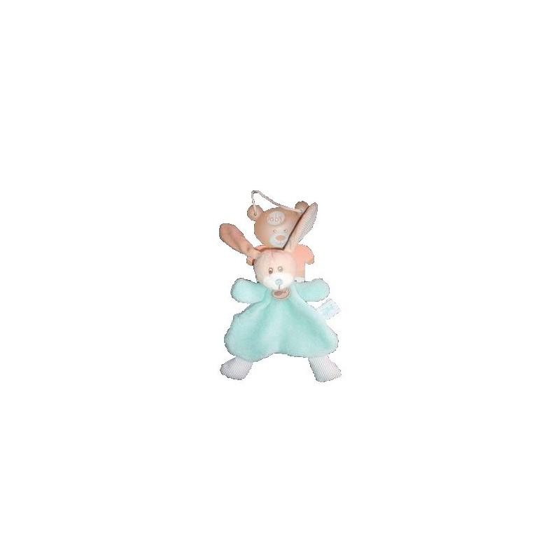 Accueil Babynat Doudou Babynat chien semi plat fruit bleu BN597