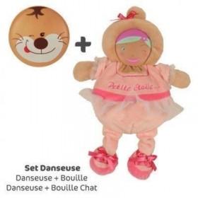 Accueil Doudou et Compagnie Doudou Doudou et Compagnie les bouilles set danseuse + bouille chat DC2291