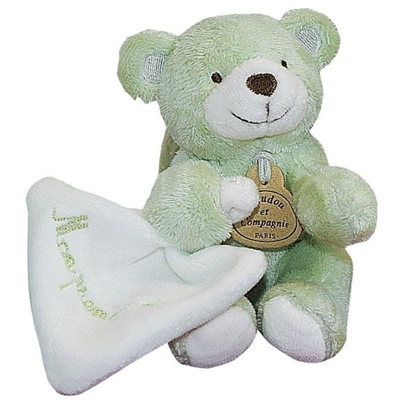Accueil Doudou et Compagnie Doudou Doudou et Compagnie mon premier doudou ours bonbon vert mouchoir DC1282