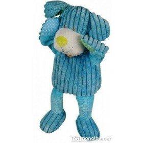 Accueil Babynat Doudou Babynat chien marionnette bleu les coteles les doubambins BN697