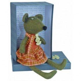 Accueil Histoire d'ours Doudou Histoire d'ours souris mousse lola les fripons girl rouge marron - HO2007
