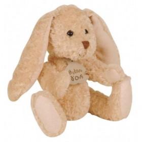 Accueil Histoire d'ours Doudou Histoire d'ours lapin dandy articulé blanc beige h : 20 cm HO2204