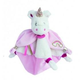Accueil Babynat doudou Babynat Licorne Blanc Arc en Ciel Corne or BN0322 Les Licornes Plat