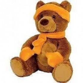 Accueil Histoire d'ours Doudou Histoire d'ours mes petis amis à la montagne castor marron et orange