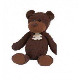 Accueil Histoire d'ours Doudou Histoire d'ours ours marron chocolat couture 27cms HO1070