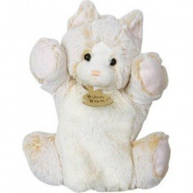 Accueil Histoire d'ours Doudou Histoire d'ours chat cat beige marron z'animoos marionnette HO2135