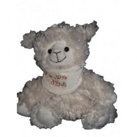 Accueil Histoire d'ours Doudou Histoire d'ours mouton agneau blanc foulard