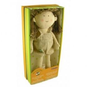 Accueil Z'autres marques Doudou Tomy My Natural Mistinguette doll la poupee brune robe lin Neuf