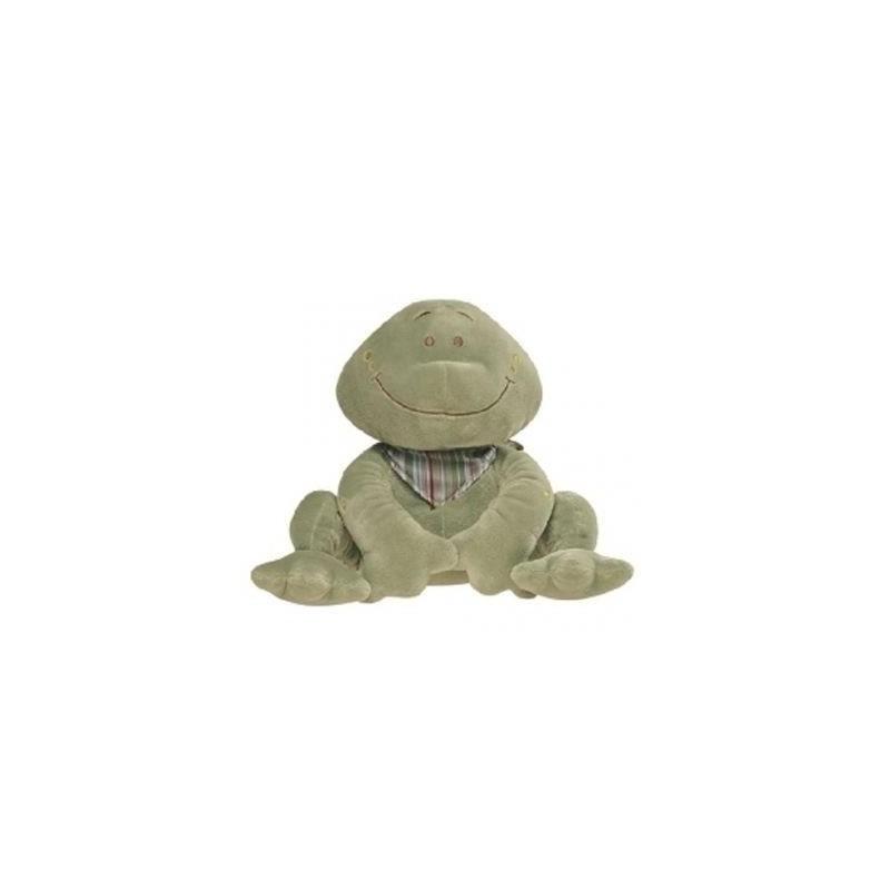 Accueil Noukies Doudou Noukies Noukie's EPA Aldo la grenouille 25cms vert foulard rayee Neuf