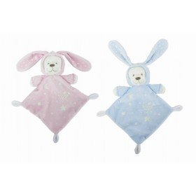 Accueil Nicotoy Doudou Nicotoy Ours Bleu deguise en lapin etoile luminescent Boone Glow 579/0544 Luminescent plat