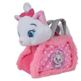 Accueil Disney doudou Disney Personnage Rose Marie dans son sac cœur Blanc Anse Gris Aristochat Pantin