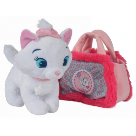 Accueil Disney doudou Disney Personnage Rose Marie dans son sac cœur Rose Anse Rose Disney Pantin