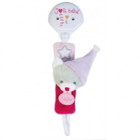 Accueil Babynat doudou Babynat Chat Rose BN0136 Les Luminescents Attache Tetine