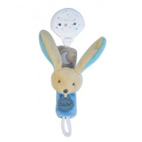 Accueil Babynat doudou Babynat Lapin Bleu BN0136 Les Luminescents Attache Tetine