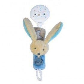 Accueil Babynat doudou Babynat Lapin Bleu BN0136 Les Luminescents Attache Tetine