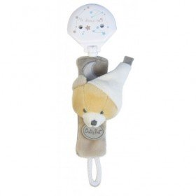 Accueil Babynat doudou Babynat Ours Gris BN0136 Les Luminescents Attache Tetine