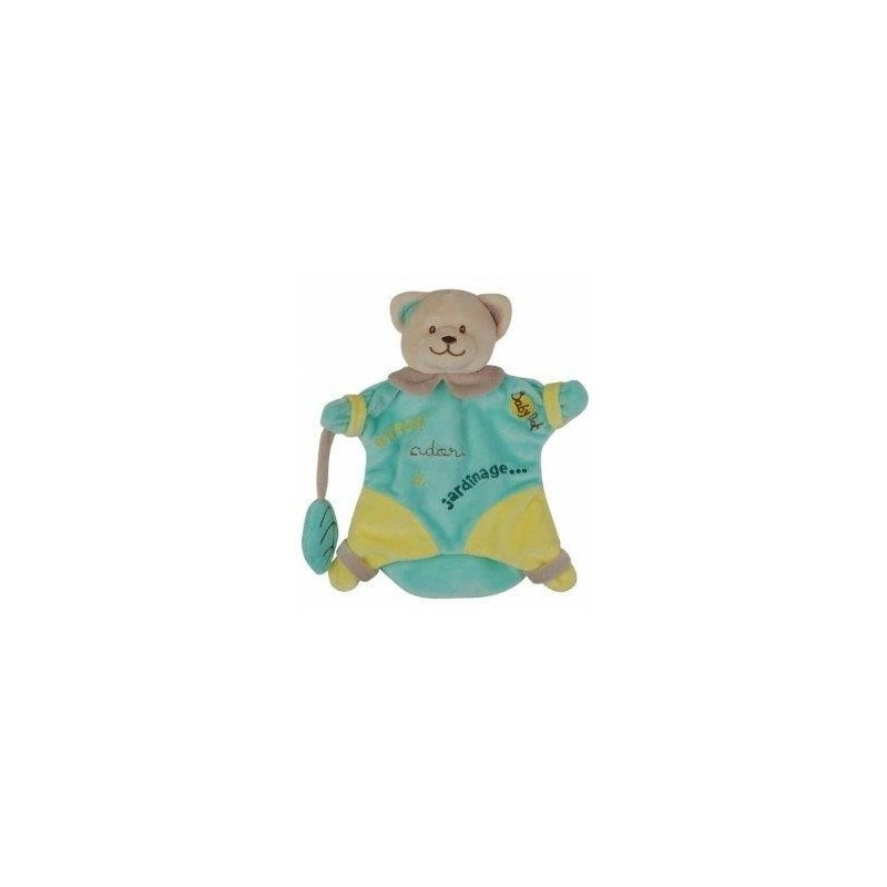 Accueil Babynat Doudou Babynat Ours Vert Bonzai Marionnette - J adore