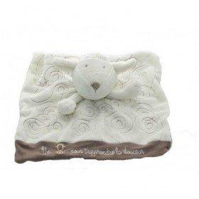Accueil Obaibi / Okaidi Doudou Obaibi / Okaidi Mouton Blanc Spirale Plat -
